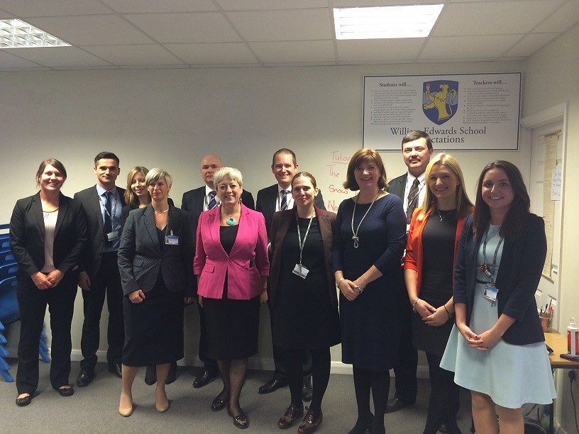 William Edwards school staff and SOS | Nicky Morgan visits t