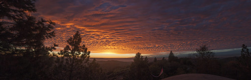 california sunset panorama clouds sierra murphys