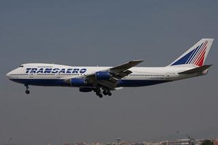 VP-BQH. B-747/200. Transaero. BCN.