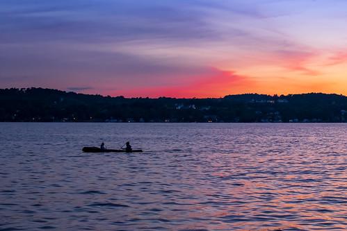 cruise sunset lake ny water beautiful evening boat couple dusk upstate canoe romantic serene canandaigua