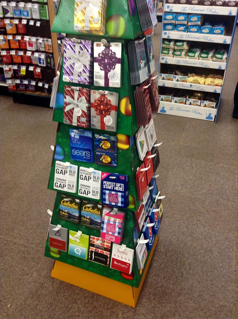 Rite Aid Christmas Cards.Gift Card Display Christmas Tree Design At Rite Aid 2014