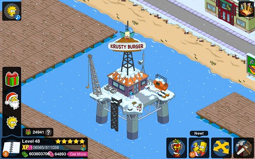 Krusty Burger Oil Rig Prize: $8,000,000 Level Required: 48 Improves: Vanity In-Come: Does not earn anything