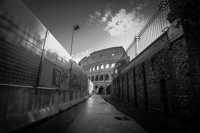 At the end of the corridor.... the Coliseum