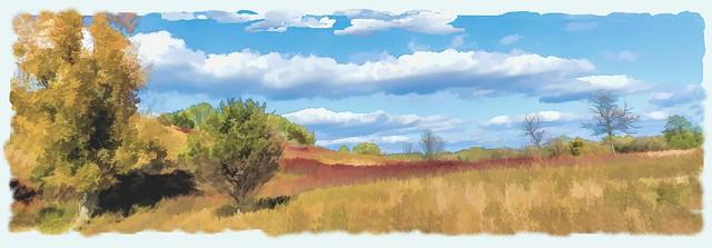PRAIRIE CLOUDS...Digital Art Painting FRONTENAC PARK MINNESOTA