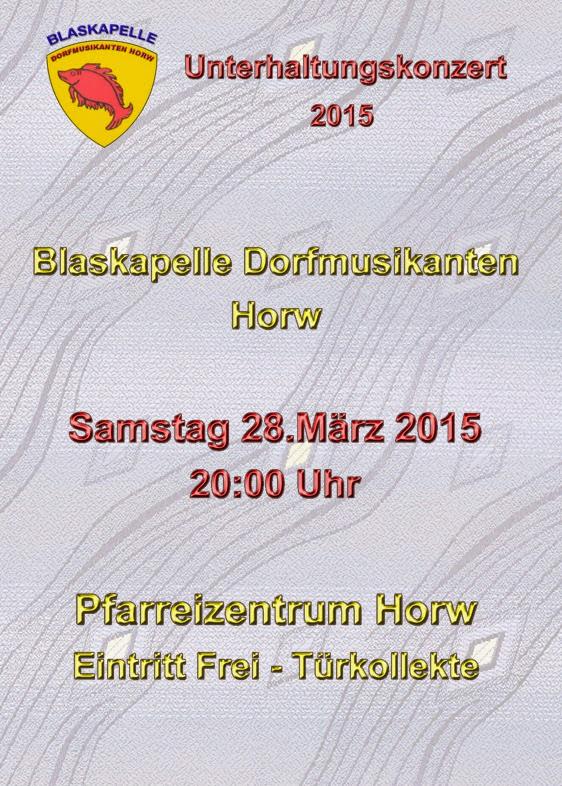 Programm Unterhaltungskonzert 28.03.2015