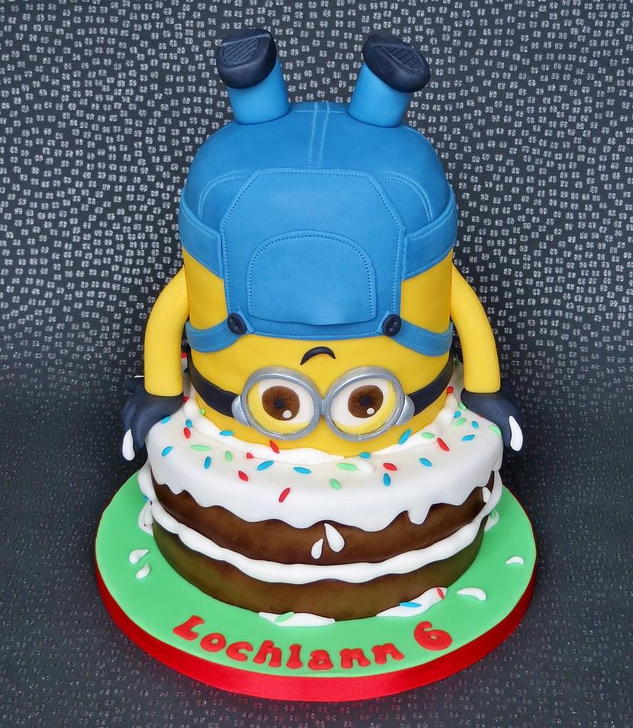 Brilliant Minion Birthday Cake Pamdoherty1 Flickr Funny Birthday Cards Online Unhofree Goldxyz