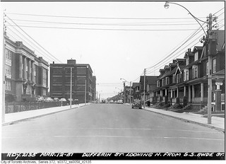Dufferin Street looking north from south side Awde Street
