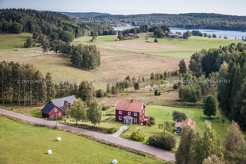 sverige swe västragötaland edsviken bengtsfors flygfoto