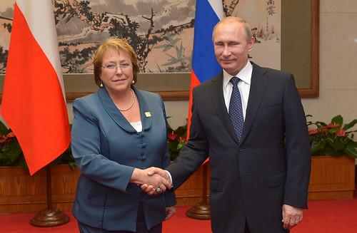 Presidenta Bachelet sostuvo una reunión bilateral con el Presidente de la Federación Rusa, señor Vladimir Putin | by Gobierno de Chile