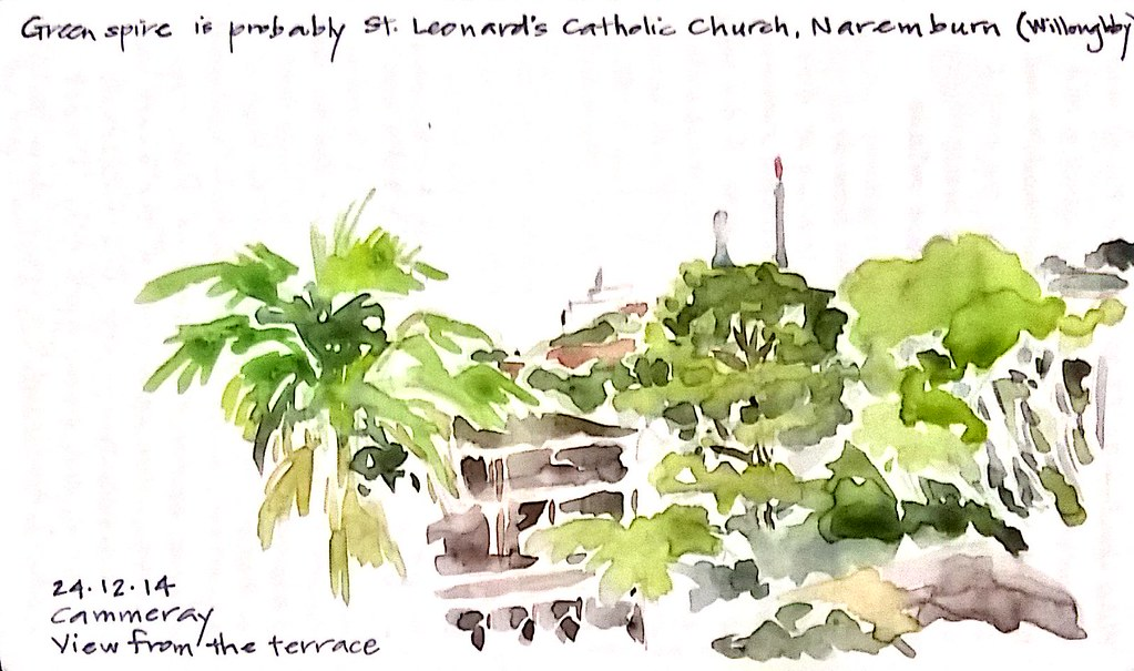 2014-12-24 View from the terrace, Cammeray NSW