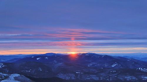 new sunset mountain mountains washington lafayette mt view cloudy jan nh franconia hampshire ridge mount vista janurary