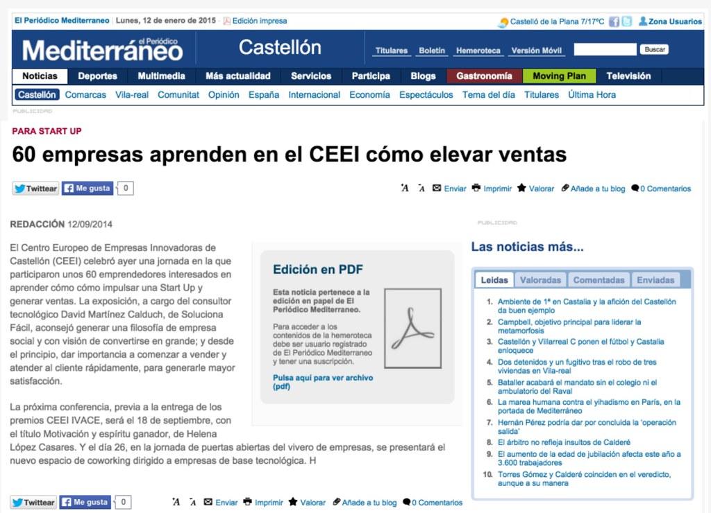 2014-09-12 60 empresas aprenden en el CEEI cómo elevar ventas