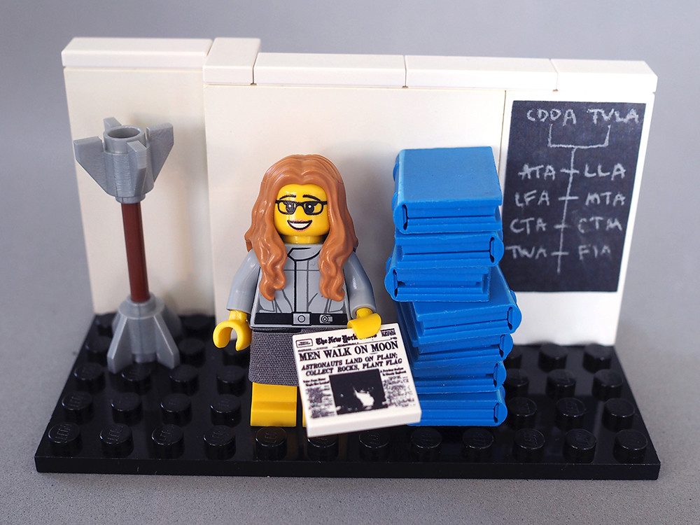 "Photo credit: Maia Weinstock; vignette of computer scientist Margaret Hamilton is part of ""Women of NASA,"" a project on the LEGO Ideas contest celebrating five pioneering women in science, technology, engineering and mathematics."