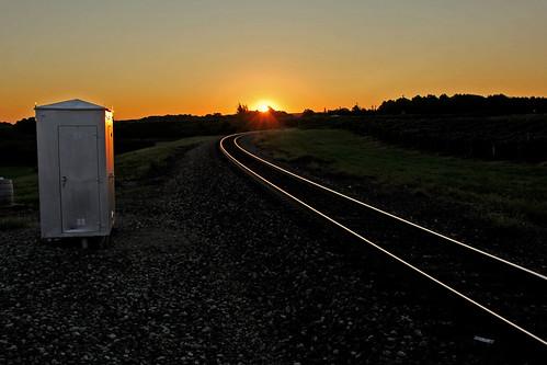 railroadtracks tracks sunrisephotography sunrise bortroad northeastpennsylvania rails reflectionphotographs norfolksouthern nslakeeriedistrict