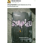 I love when readers share pics of my books--especially when it's one of their faves. This one of STAINED via Mandy Anderson. (beaming)  #cherylrainfield #STAINED #YALIT #yabooks #yasaves #youngadult #booknerdigans #bookworm #ireadya #booklove #bookpics #b