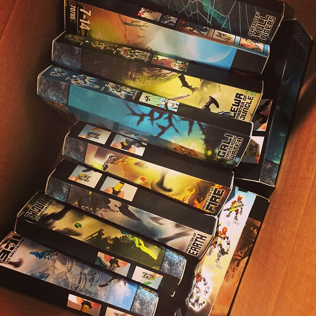 second round of review sets, ready to go!! #bionicle2015