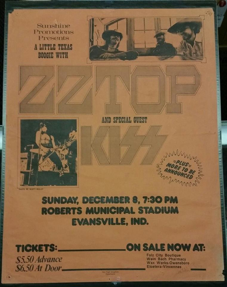 12/08/74 ZZ Top/ Kiss/ Point Blank @ Roberts Municipal Sta