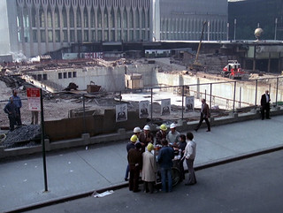 On Church Street, NYC with World Trade Center (Twin Towers) construction in background - episode originally aired 10-24-74 | by Gary Dunaier