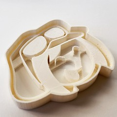 Nana #cookie #cutter! Order one from https://www.etsy.com/ca/listing/207216895 or #3dprint it from  http://www.cgtrader.com/MorenaP #3dprinting #3dprinted #morenap3d # sweet #cake #comic #cute #etsy #ultimaker #pla #baking #kitchen