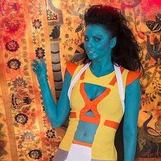 Alien girl cosplay