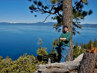 Lake Tahoe (eastern side, looking ~west) (Sierra Nevada Mountains, far-western Nevada, USA)