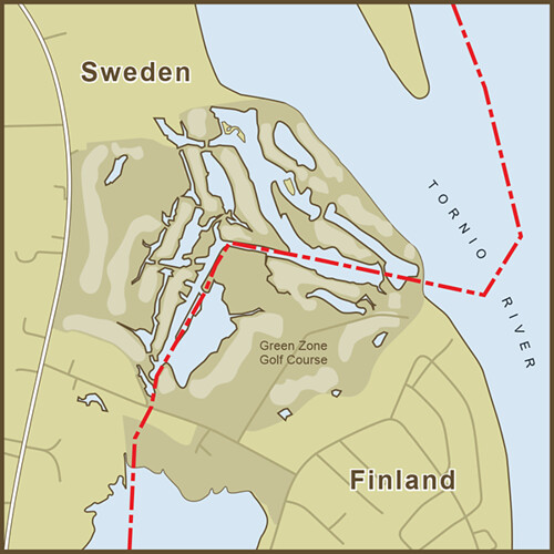 A Map of the Strange Border between Sweden and Finland that Crosses a Golf Course