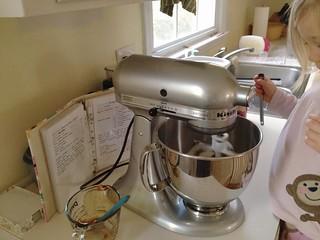 mixing dough for gingersnaps   by betondinner