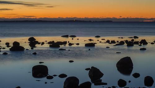 sunset sweden scania viken öresund
