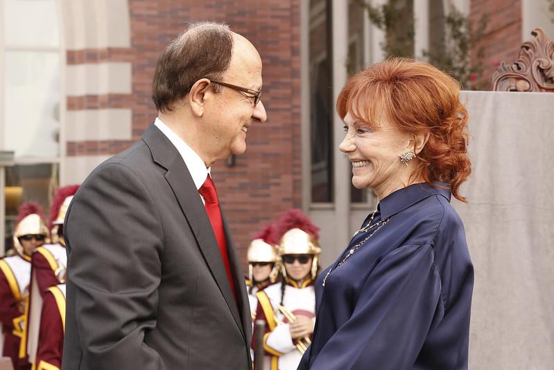 President Nikias and Glorya Kaufman join USC Kaufman to celebrate the ribbon cutting of the Glorya Kaufman International Dance Center.