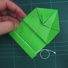 การพับกระดาษเป็นรูปแรด (Origami Rhino) 016
