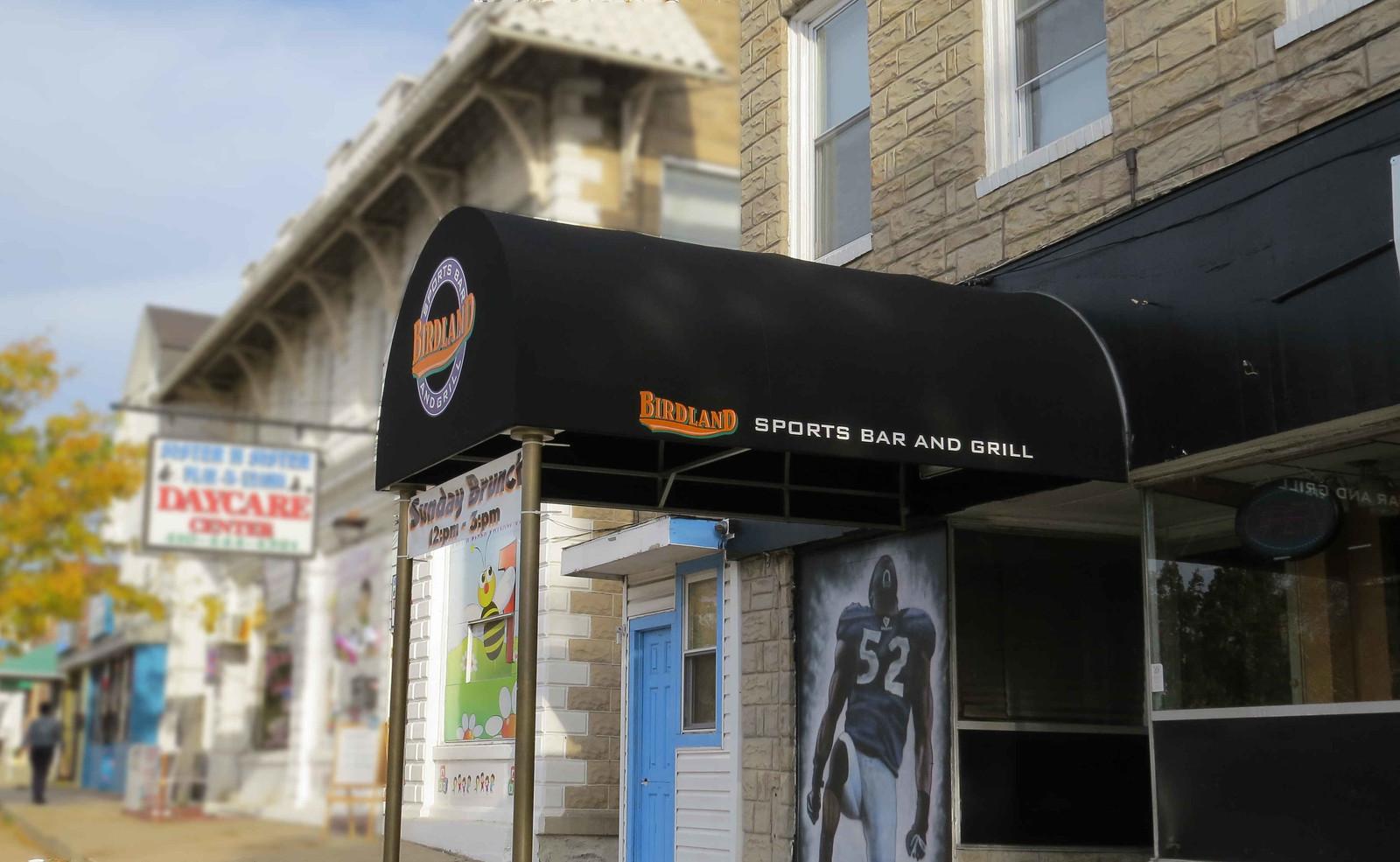 Birdland Sports Bar Awning Baltimore