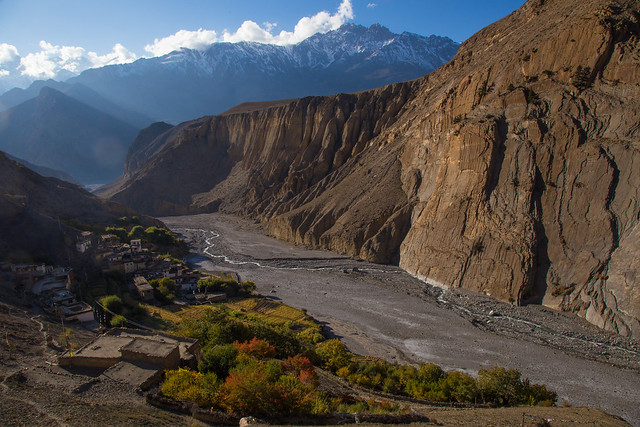 Lupra, a traditional Bön village in Mustang