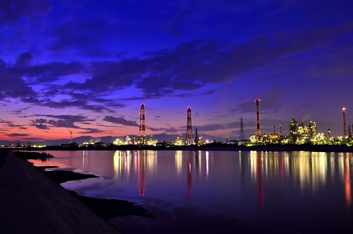 light japan night landscape photo nikon asia long exposure industrial factory cityscape 日本 夜景 mie 風景 amateurs 光 yokkaichi 夜 三重 長時間露光 アジア 四日市 工場 ニコン アマチュア d7000