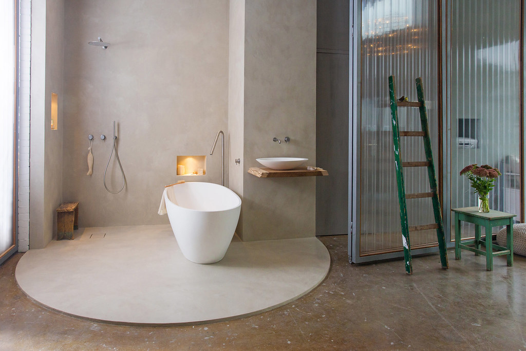Cocoon bathroom showroom béton ciré pro amsterdam cocoon bu flickr