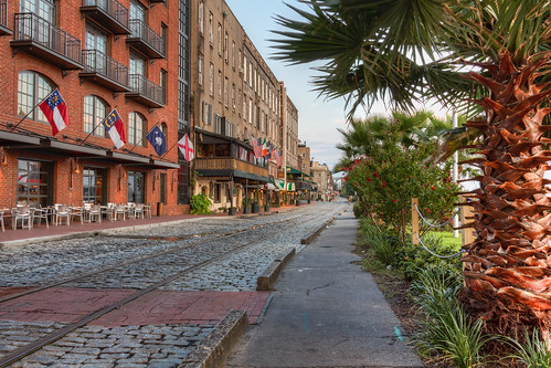morning usa sunrise canon georgia eos day unitedstates historic savannah hdr riverstreet 60d