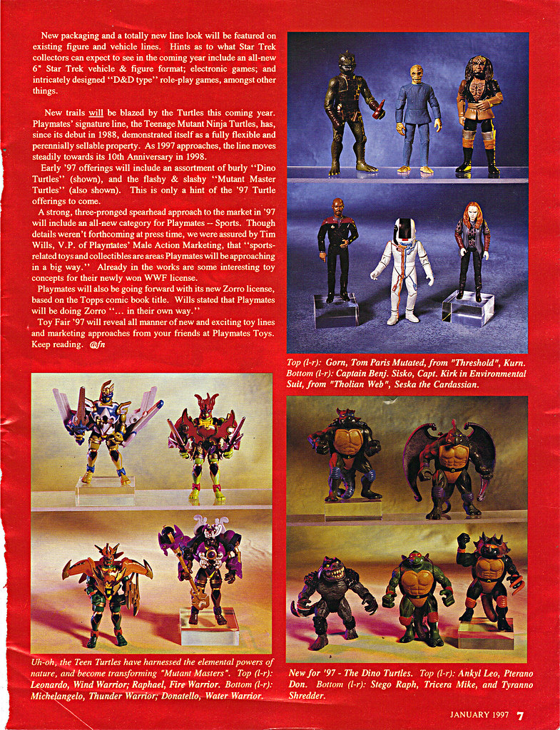 "ACTION FIGURE NEWS & TOY REVIEW : ""PLAYMATES TREKS ON INTO 1997"" pg.7 (( 1997 )) by tOkKa"