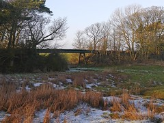Disused Railway Bridge that is located beside the footpath along the River Annan