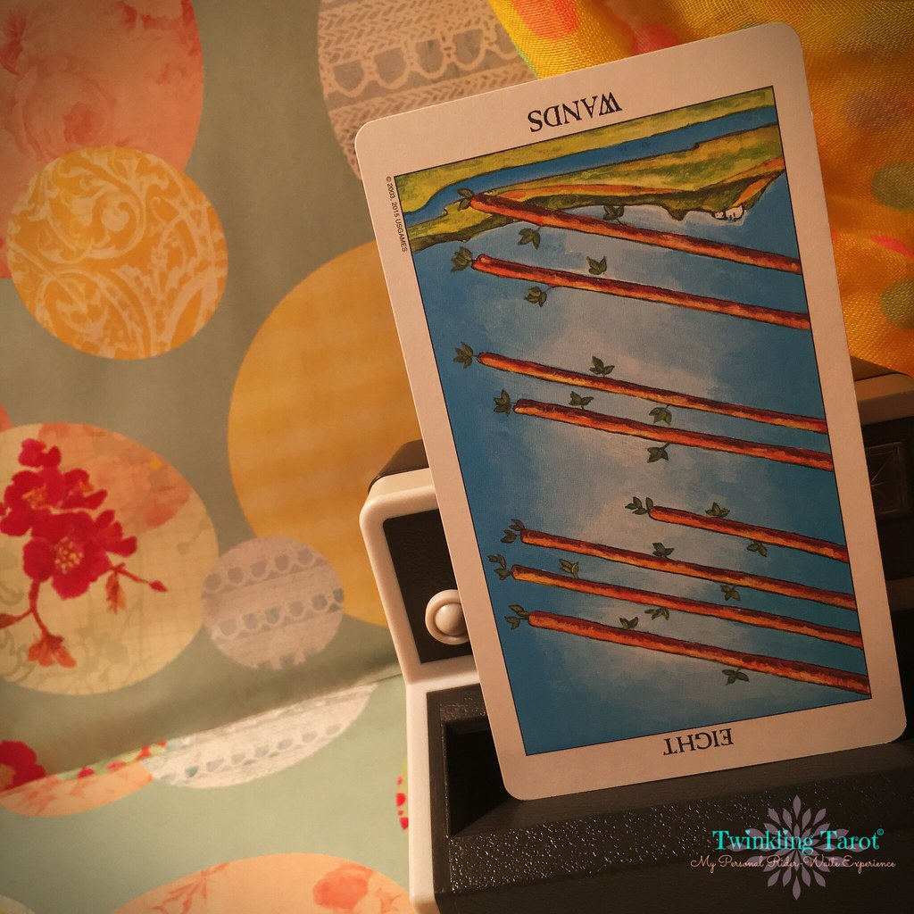 8 of Wands - Reversed