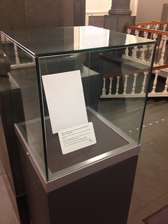 National Library of Scotland empty display & caption, October 2014