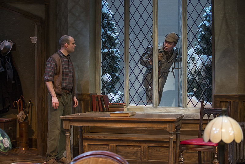 (L-r) Keith Neagle (Giles Ralston) and Greg Matthew Anderson (Sergeant Trotter)