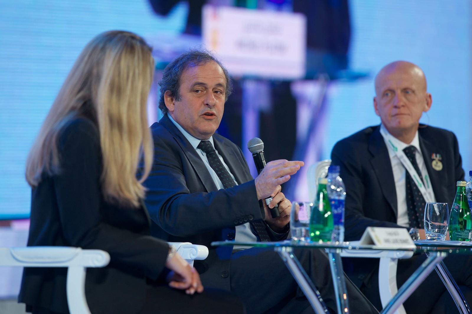 Michel Platini & Pierluigi Collina