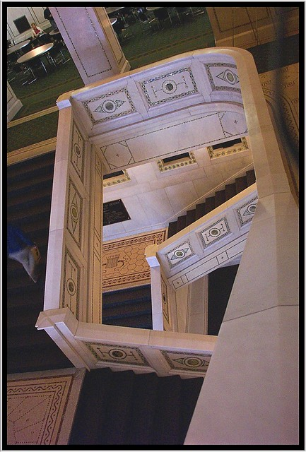 Chicago Old Public Library Staircase ~ Carrara Marble & Mosaics ~ 1893