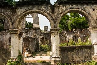 Jaffna Kachcheri. Ruins of war.