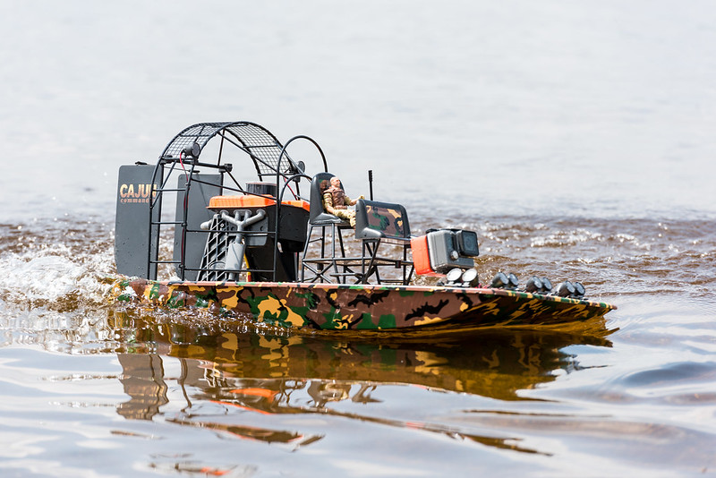 Arthur's Airboat in action.