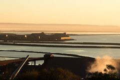 Sunrise over Whyalla Steelworks