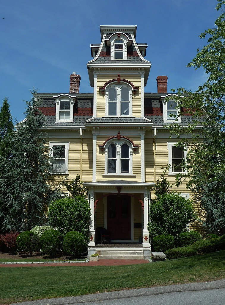 Newton, MA, Yellow Victorian House