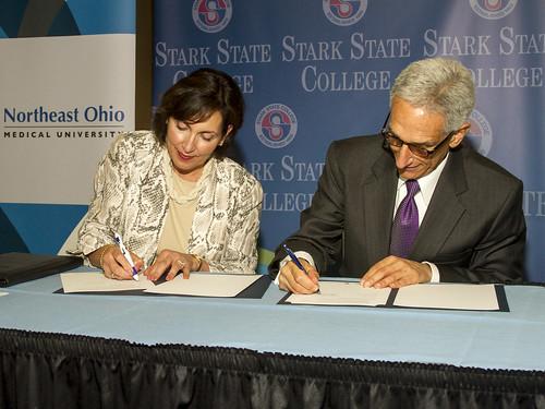 NEOMED partnership signing