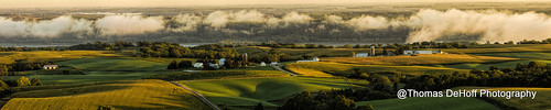 morning light panorama clouds river mississippi sony iowa farmland valley a580