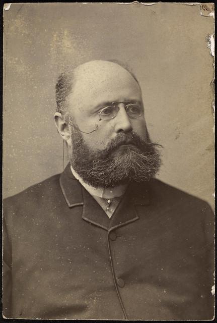 Portrett av uidentifisert mann, 1891 / Portrait of unidentified man, 1891