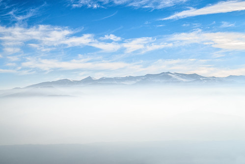blue sunlight mist mountain fog landscape macedonia mountainside cloudscape mountainridge vodno